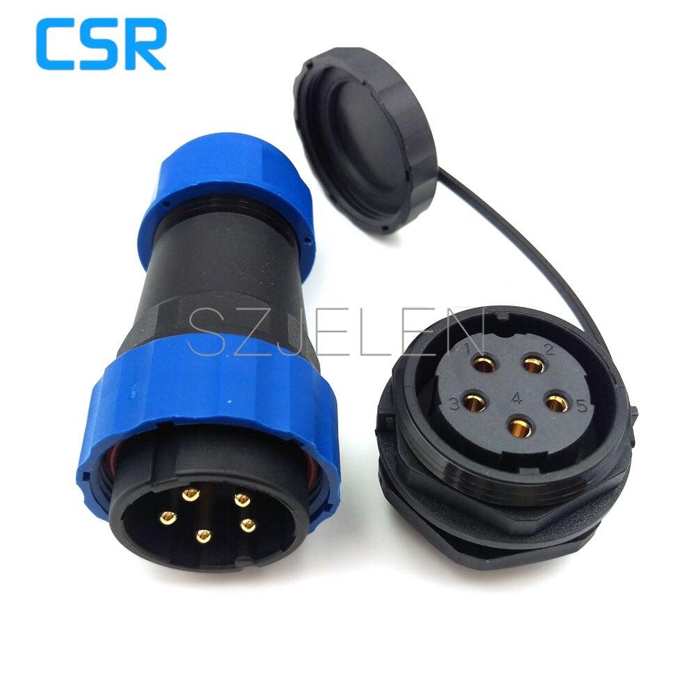 SD28TP ZM, 5 pin wasserdichten stecker, IP67, LED Panel mount 5 pin ...