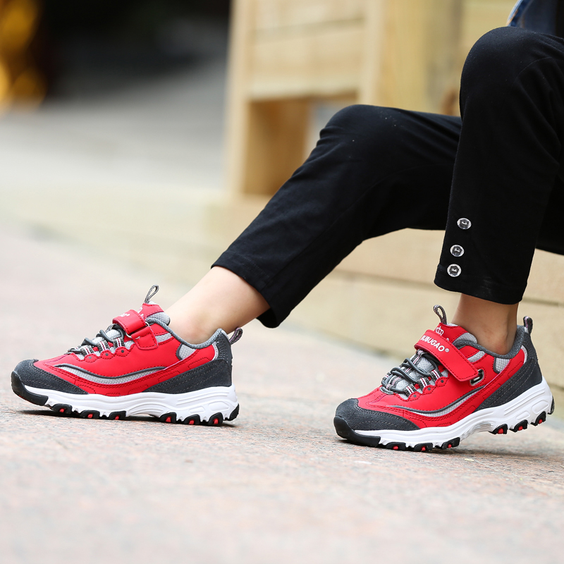ФОТО black and white shoes boys girls shoes big  paternity shoes in leather slip outdoor climbing
