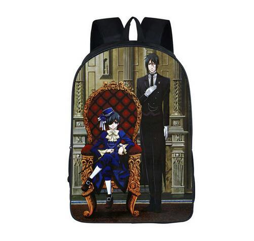 Anime Black Butler Backpack BLEACH NARUTO One Piece Fairy Tail Attack on Titan School Bags Women Men Travel