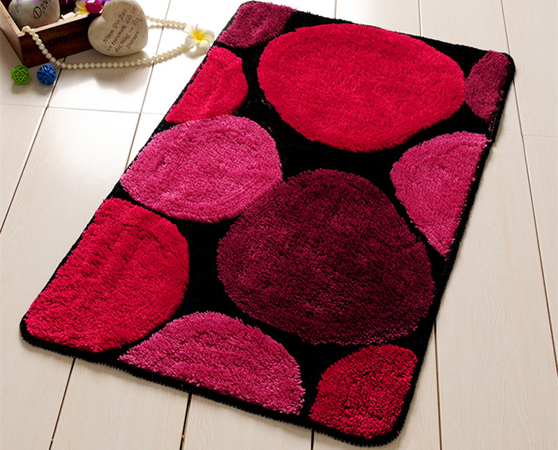 New Bathroom Bath Mat Shaggy Floor Carpet Mattress for Bathroom Non-slip Toilet Rug Water Absorption kitchen Door Mat Feet Pad