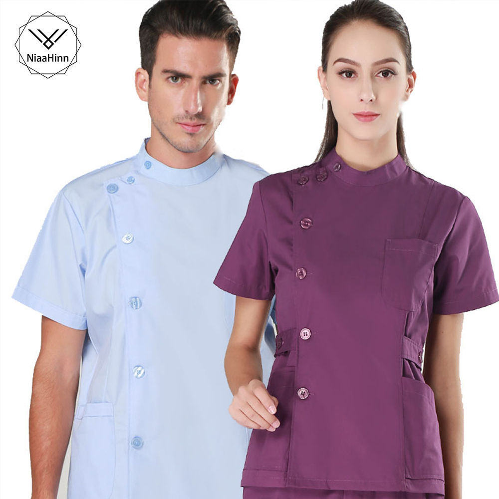 Women And Men Medical Wear Summer Doctor Sets Scrub Nurse Uniforms Hospital Clothing Lab Workwear Top And Pant Cheap Suits New