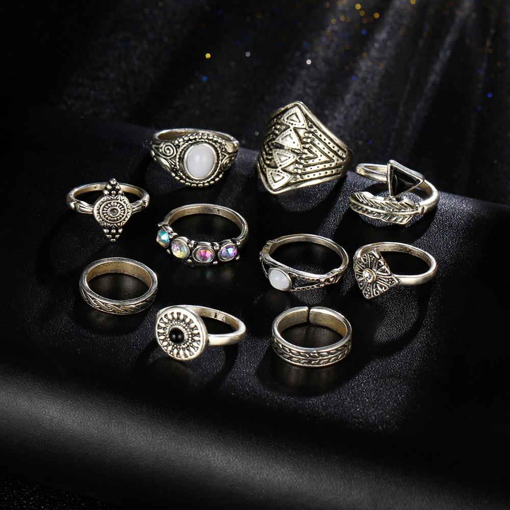 HTB1GgL6RXXXXXbfXFXXq6xXFXXXq Tribal Fashion 10-Pieces Vintage Midi Ring Set With Opal Stones - 2 Colors