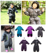 Children's brand new Dongkuan Romper thick winter coveralls coveralls assault boys and girls high-end outdoor clothing ski suits