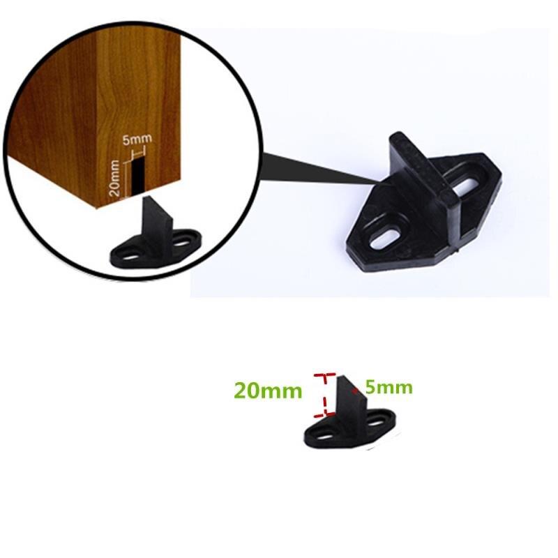 LWZH Plastic Sliding Barn Door Hardware Bottom Floor Guide(Black)