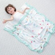 где купить Four Layer Bamboo Baby Muslin Blanket Muslin Tree Swaddle Better Than Aden Anais Baby/bamboo Blanket Infant Wrap for Baby Bath по лучшей цене