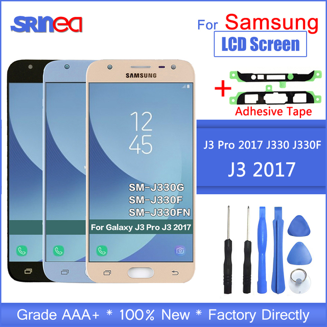 For Samsung Galaxy J3 2017 J330 LCD Screen J330f SM J330FN LCD Display+Touch Screen Digitizer Assembly With Adhesive Tools