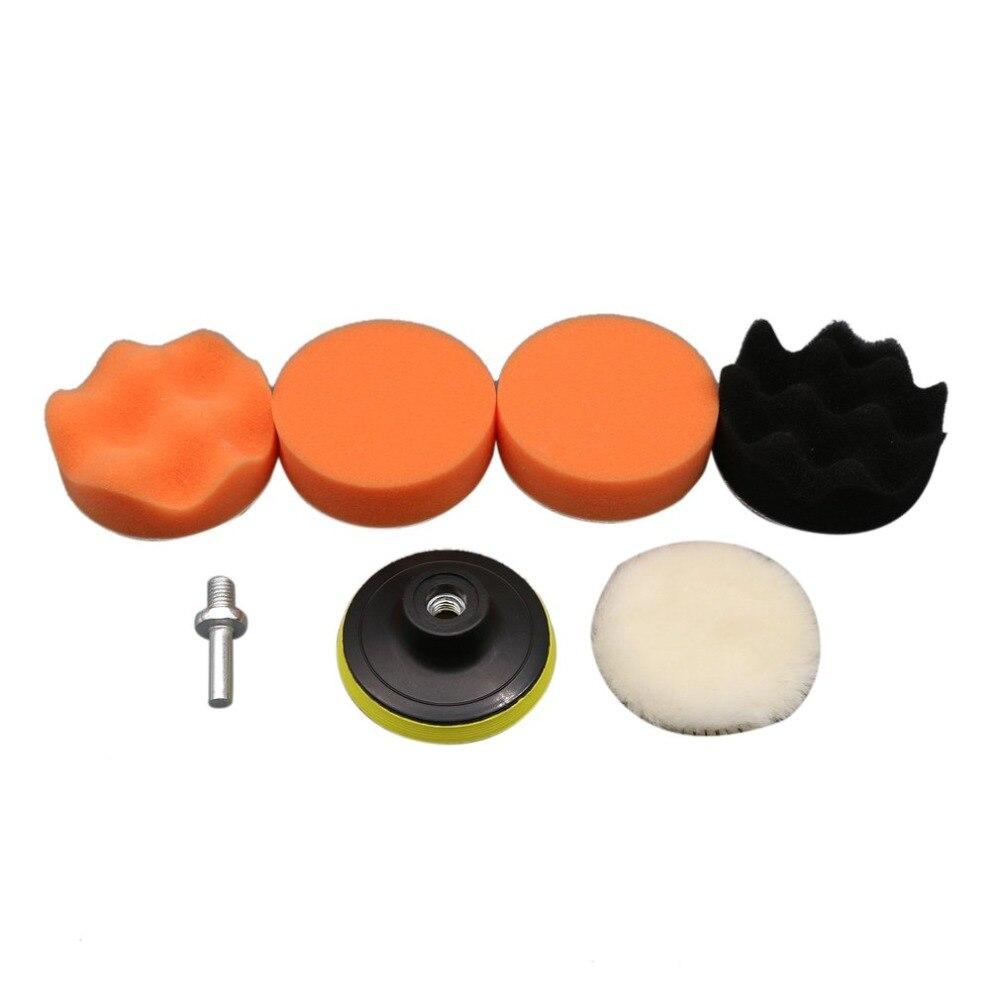 4 Zoll 7 Stücke Multifunktionale Welle Schwamm Auto Polieren Waxing Rad Set Kits Auto Styling Werkzeuge Poliert Wiederherstellung Auto Körper Einfach Zu Schmieren