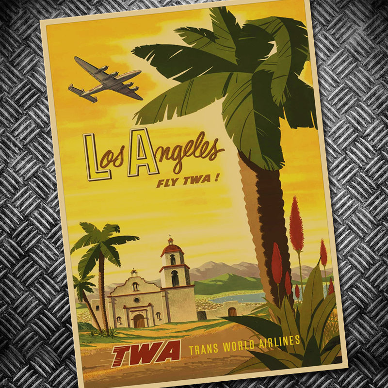America City Philadelphia Vintage Poster Kraft Paper Wall Sticker ...
