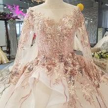 AIJINGYU Turco Vestido de Noiva Made In China Cetim Vestidos Novos de Fábrica Por Atacado Designer Vestidos de Casamento Pedaço Vestido 2