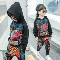 Boys autumn suit 2018 new girls spring and autumn two piece Korean boy tide clothes sportswear