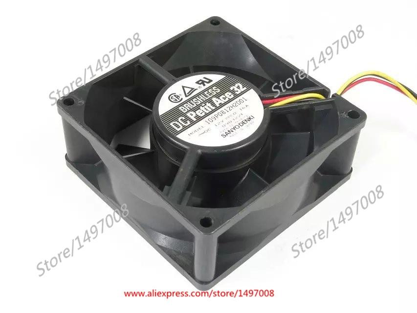 SANYO 109P0812H2D01 DC 12V 0.16A 80x80x32mm vierkante serverventilator