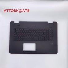 RU US LA AR لوحة مفاتيح الكمبيوتر المحمول القياسية لشركة آسوس N751 N751J G771 G771JW GL771JM GL771JW GL771 مع الخلفية مع غطاء C