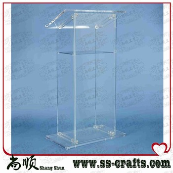 free shipping Acrylic Lectern Perspex Podium Plexiglass Church Pulpit cheap church podium