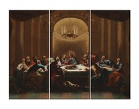 Jesus canvas Wall Art Cuadros The Last Supper painting Modular pictures on Canvas Religious Wall Pictures for Living Room Decor