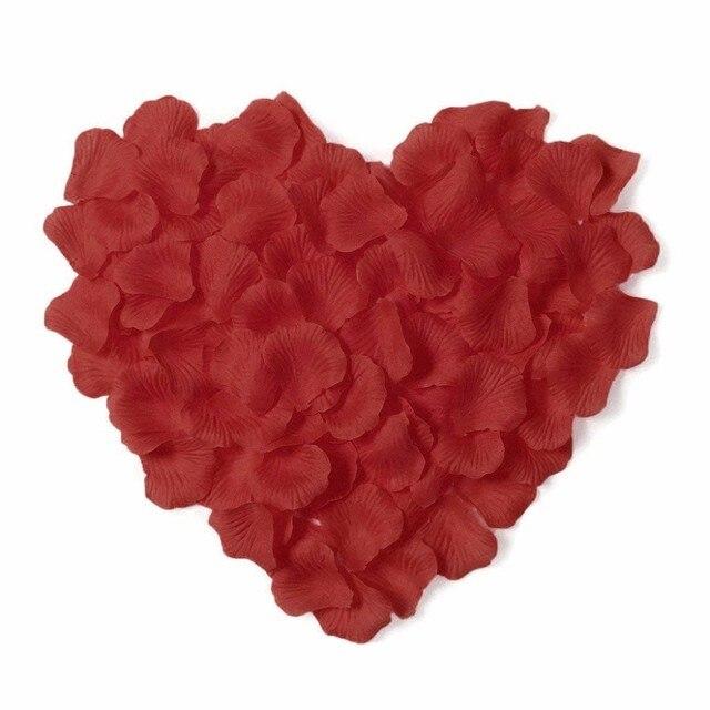 5000pcs / lot 5*5cm silk rose petals for Wedding Decoration, Romantic Artificial Rose Petals Wedding Flower Rose Flower 1