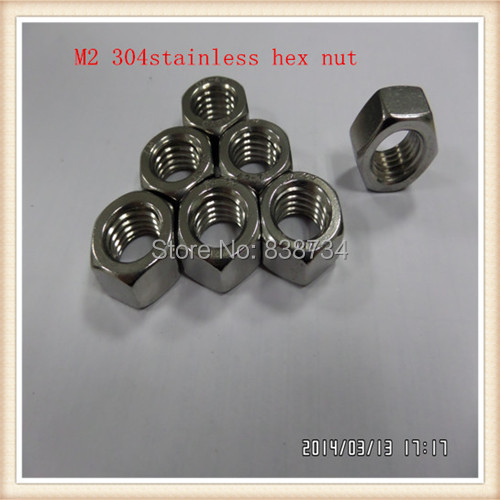50 unidades Tuercas hexagonales DIN 934 M6 acero inoxidable A4