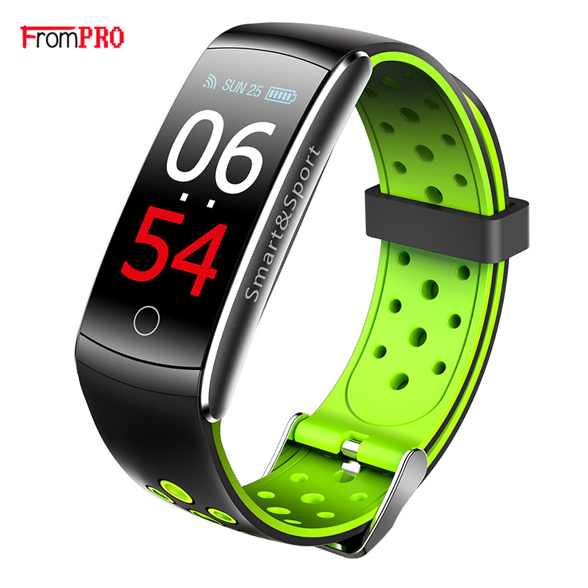 Color screen Q8 Smart Band Heart Rate Monitor Waterproof Wristband Watch Fitness Tracker Bluetooth bracelet Q8S For Android IOS цена 2017