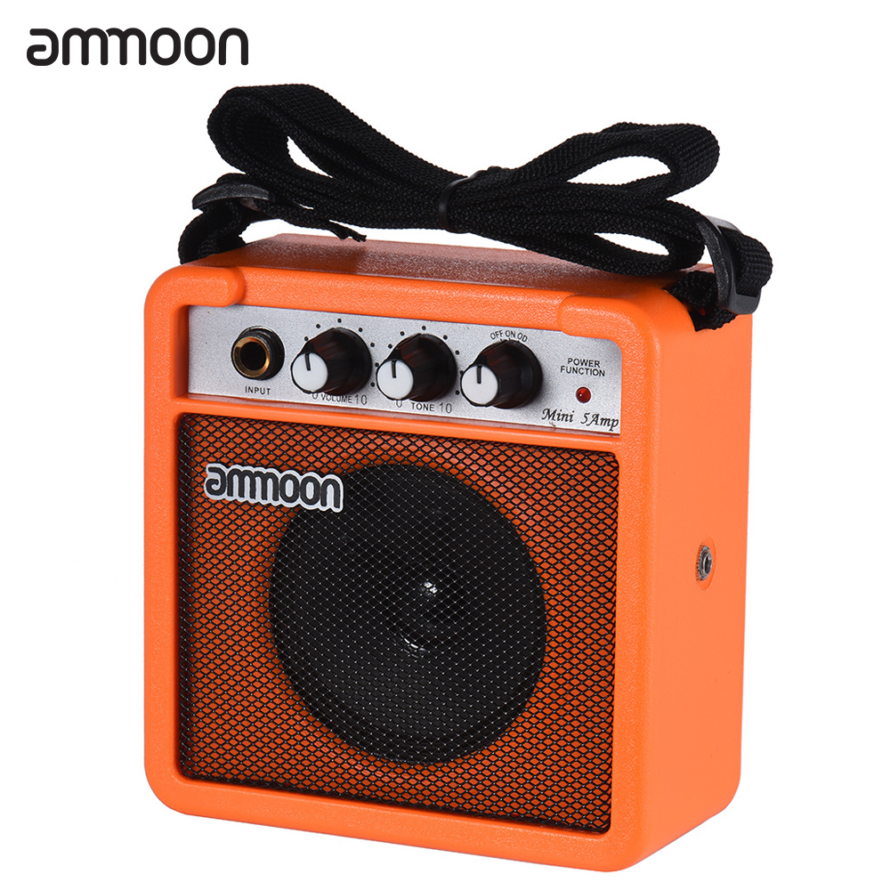 ammoon mini 5 watt 9v battery powered amp amplifier speaker for acoustic electric guitar. Black Bedroom Furniture Sets. Home Design Ideas