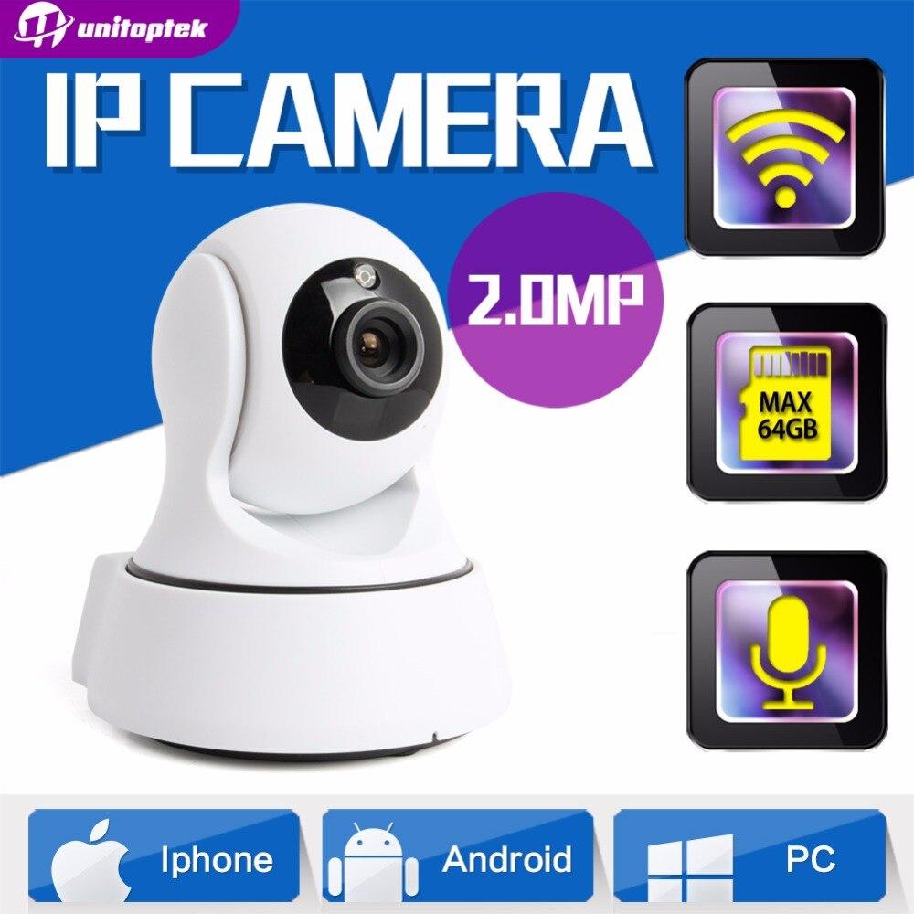 ФОТО UNITOPTEK MINI Wireless WIFI IP Camera 1080P PTZ Night Vision HD 2MP Smart Camera Two Way Audio Home CCTV Surveillance Camera