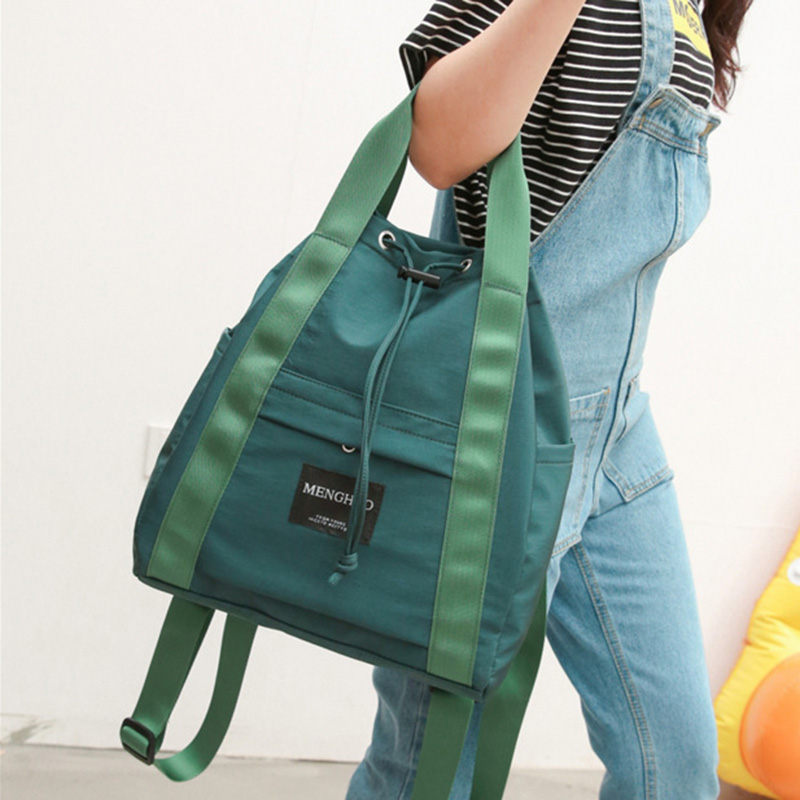 Korean Canvas Backpack Backpack For Travel Simple Large College Style Schoolbag Sac S404