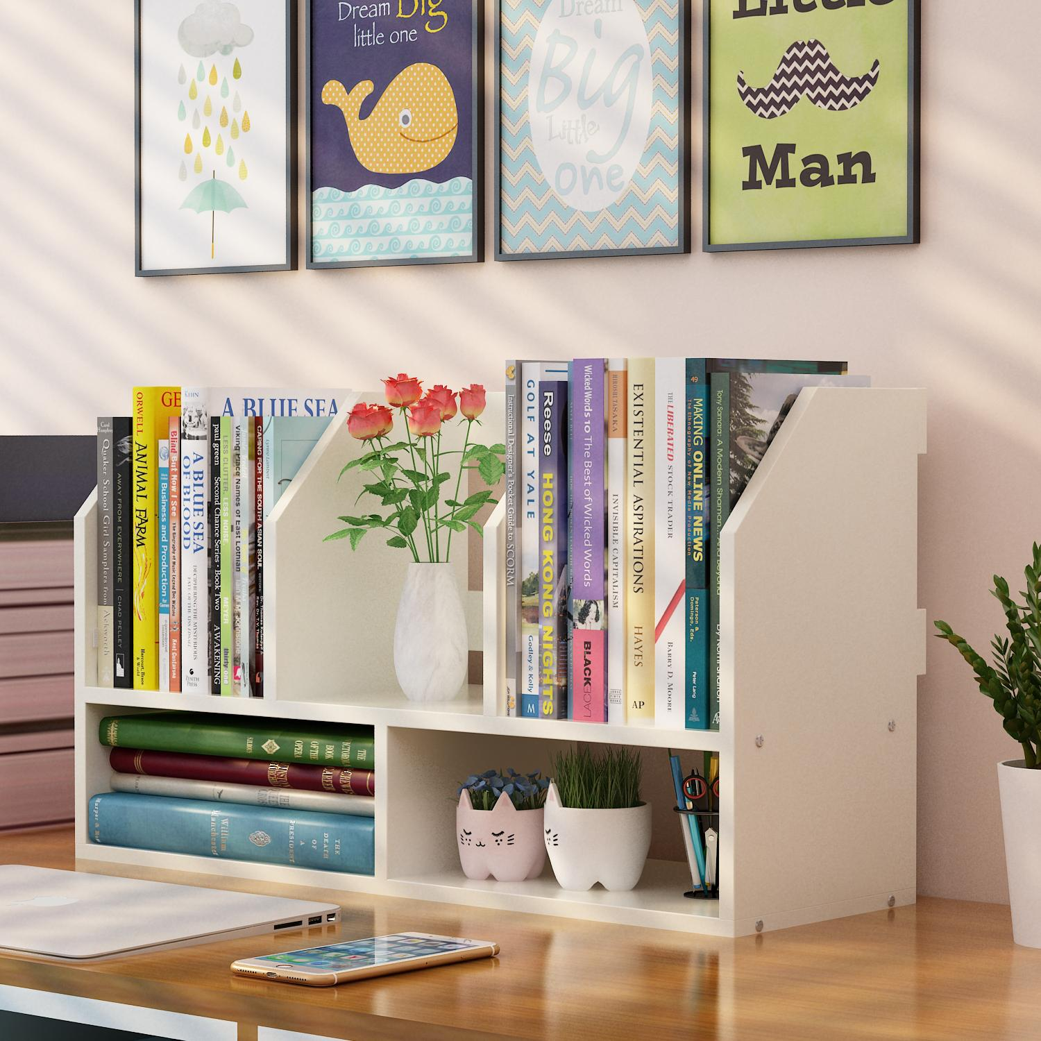 Creative Office Reception Design Us 14 9 Louis Fashion Bookcases Modern Simple Desktop Student Children S Mini Table Storage And Creative Office Reception In Bookcases From