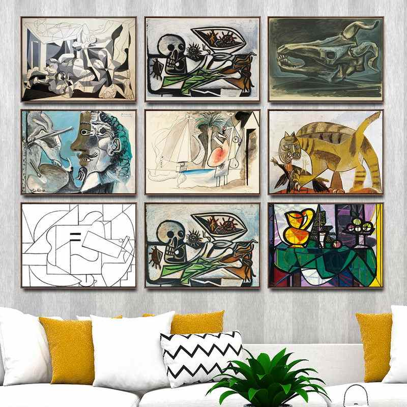 Home Decoration Art Wall Pictures Fro Living Room Poster Print Canvas Paintings Spanish Pablo Picasso Abstract  Dream