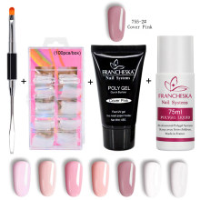 Francheska kit de Gel en Polygel, kit de gel en acrylique à Camouflage, Poligel, vernis à ongles dur, Design de vernis à ongles naturel(China)