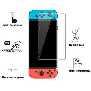 Image 3 - Protector de pantalla de vidrio templado Premium para Nintendo Switch, película protectora endurecida, 100 Uds., 2.5D, 0,26mm, 9H