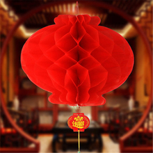 "HAOCHU 12pcs/lot 6"" 15cm Chinese Palace Paper Lantern Decor Supplies New Year Wedding Bridal Shower Party Handmade Crafts Decor(China)"