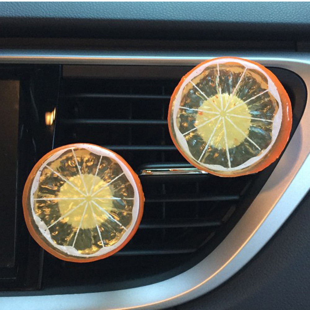 1Set Lemon piece Car Perfume Clip + Balm Lemon flavor Air Purifier Lady Car Styling Air Outlet Accessories Car Air Freshener
