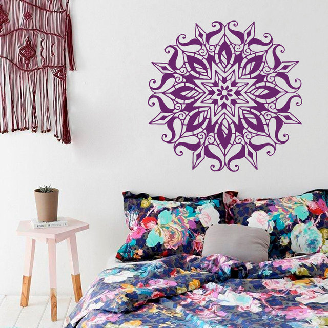 Yoga Wall Art aliexpress : buy art home decor mandala yoga flower wall decal