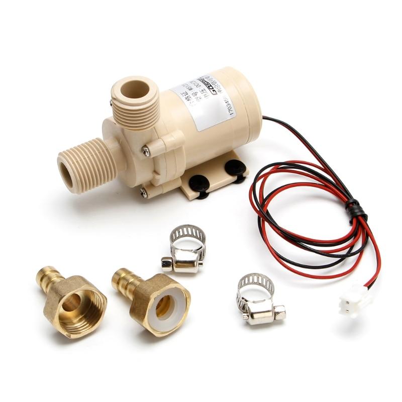 12V Solar Submersible Hot Water Pump Circulation 212degree F Brushless Motor High Pressure #0604