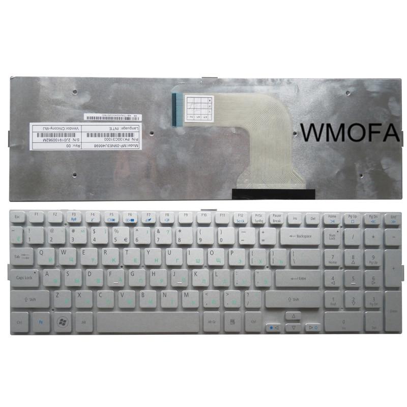 RU For ACER 8950 8950G 5943G 5943 5950 5950G 8943 8943G Laptop Keyboard Russian Silver New laptop keyboard for acer silver without frame bulgaria bu v 121646ck2 bg aezqs100110