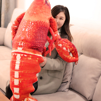 big lovely plush lobster toy new simulation red lobster doll gift about 115cm