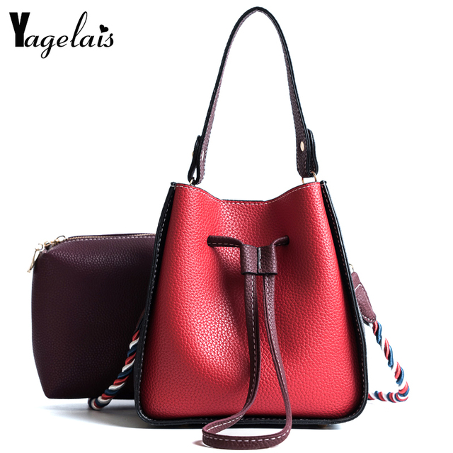 English Style Women Bucket Handbags Fashion Shoulder Bags Casual Composite Bag Versatile String Crossbody