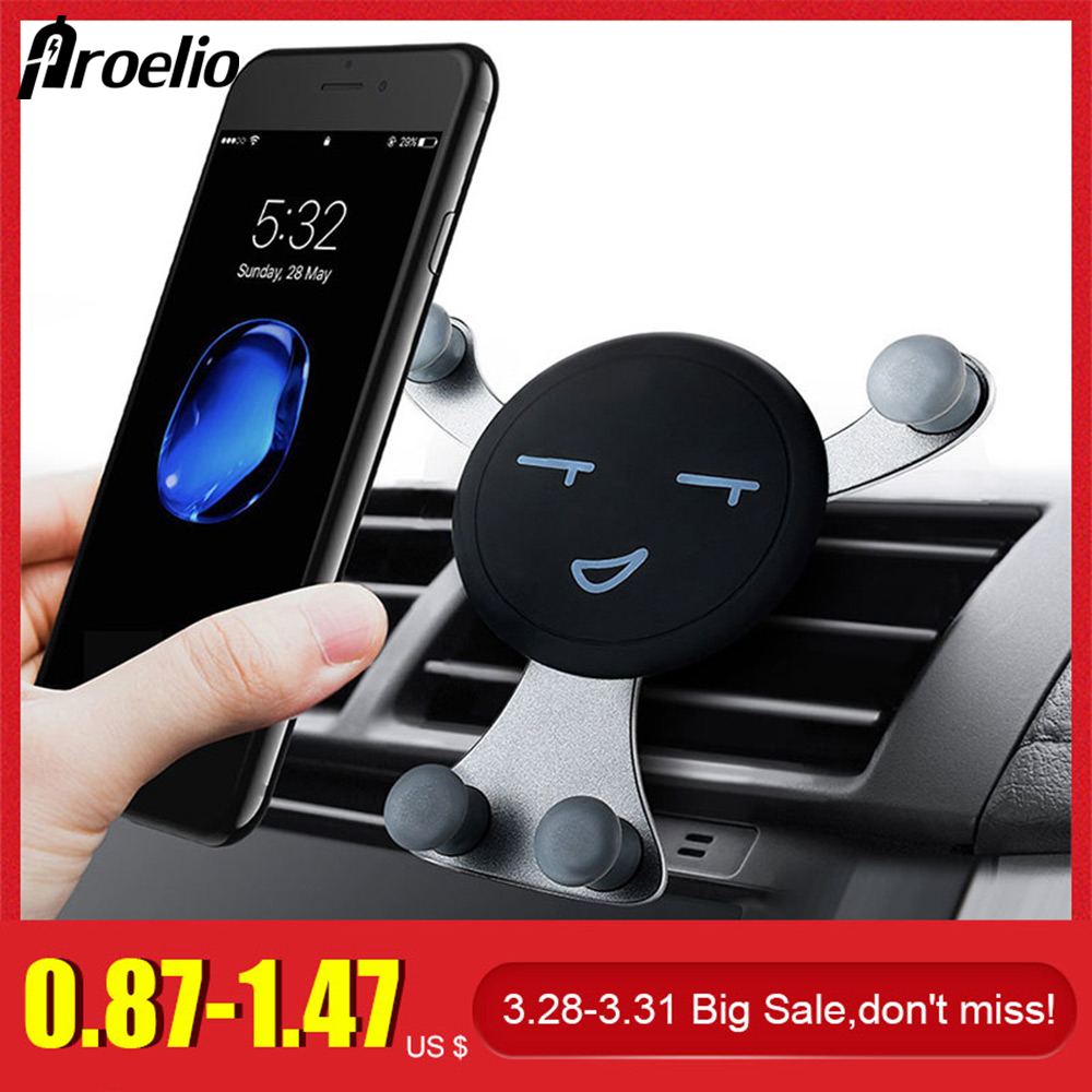 Car Air Vent Mobile Holder Stretchable Phone Clamp For Cell Phone GPS