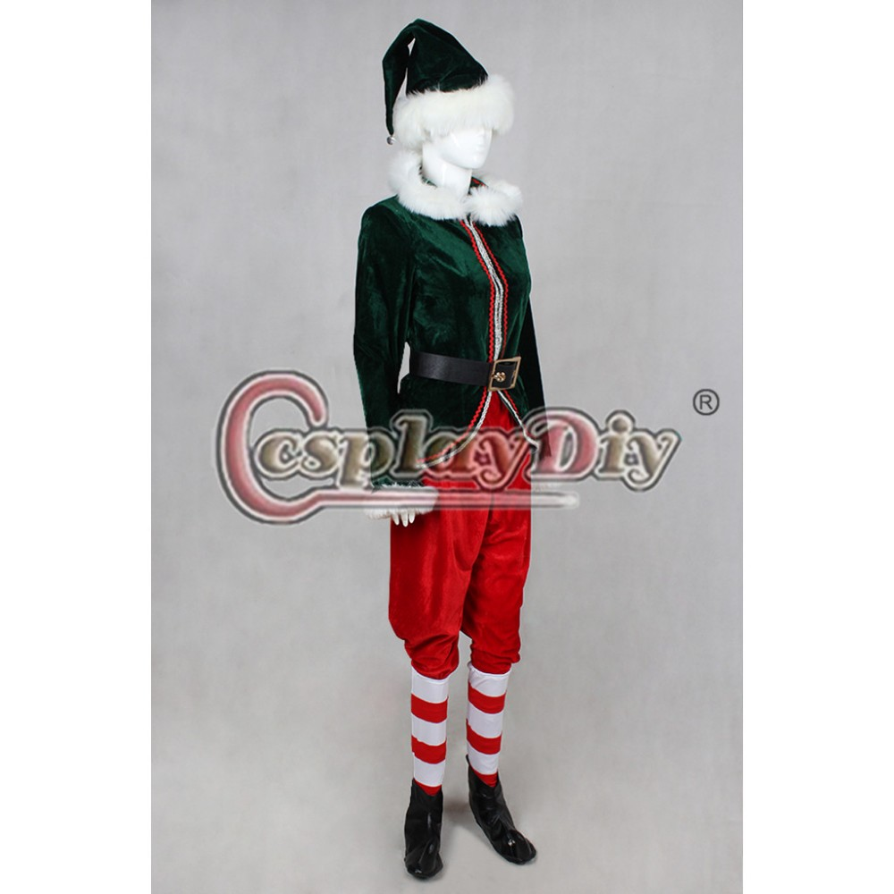 Custom Made Adult Deluxe Red and Green Christmas Elf Costume Halloween Costume D1119-in Anime Costumes from Novelty u0026 Special Use on Aliexpress.com ...  sc 1 st  AliExpress.com & Custom Made Adult Deluxe Red and Green Christmas Elf Costume ...
