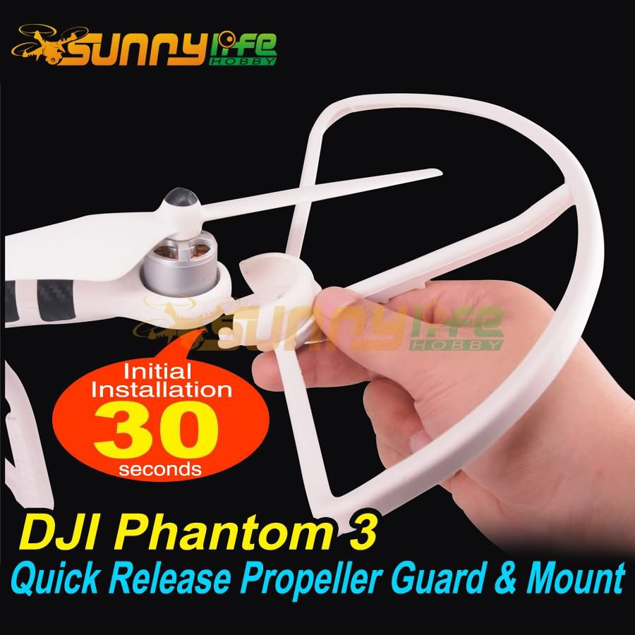 DJI Phantom 3 Accessory Propeller Guard/ Protector/ Bumper/ Shielding Ring Quick Release Protector & Propeller Mount/Adapter