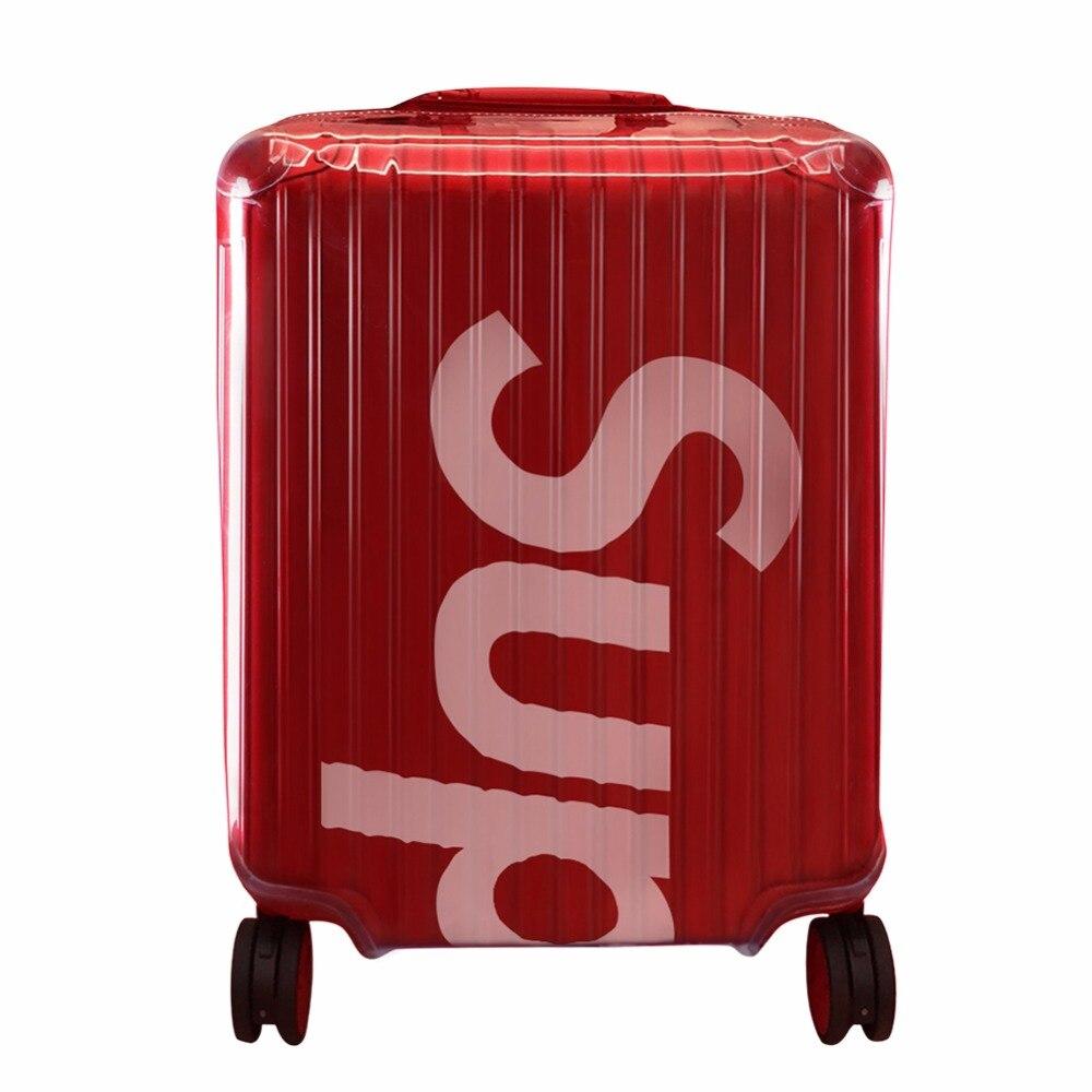 Rimowa couvre bagages Valise Couvercle Transparent PVC Bagages Protecteur avec Fermeture À Glissière pour Suprême RIMOWA 45L ou 82L