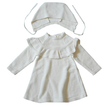 QUIKGROW Well Made Baby Girl Sweater Dress and Hat Set Infant Long Sleeve Knitted Outwear NY12MY