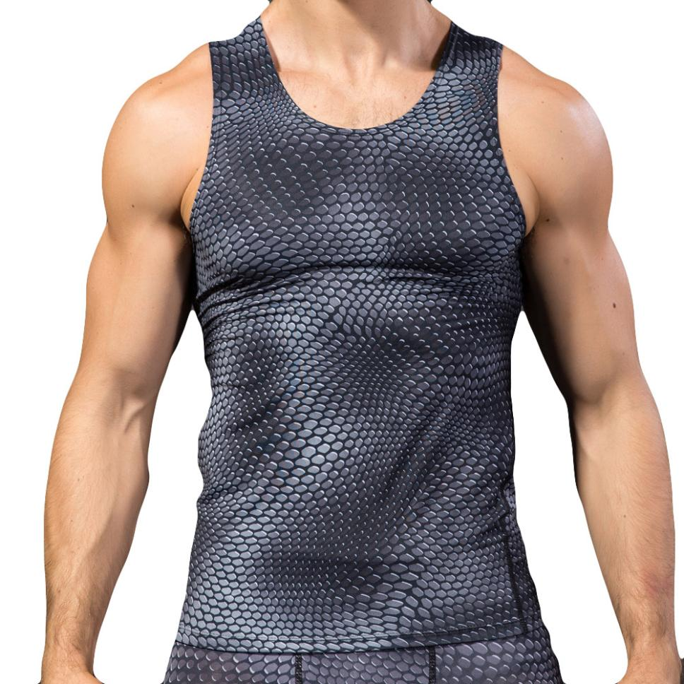 Fashion High Quality Fitness Clothing Men 3D Printing Shirt Top Vest For Male Drop Shipping