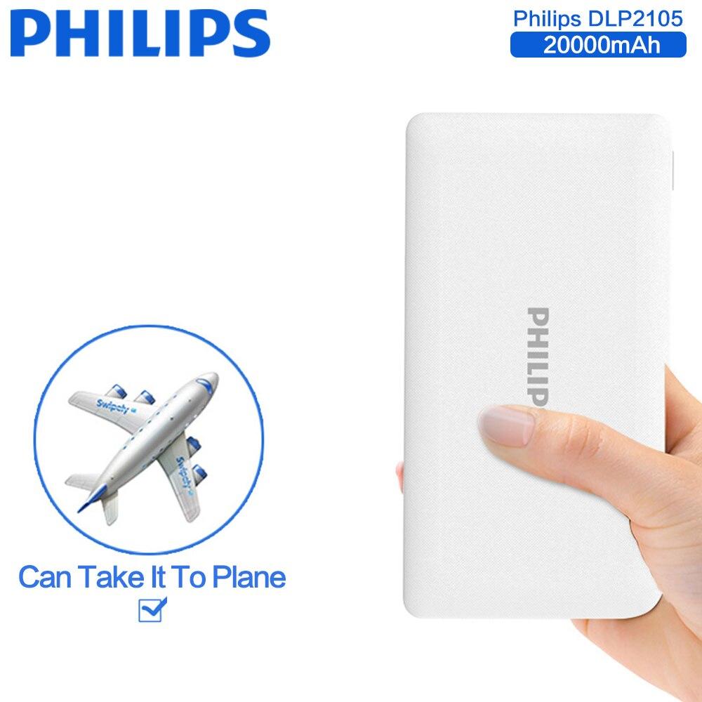 bilder für Philips universal 20000 mah energienbank tragbare externe ladegerät backup für iphone 5 s 6s 7 plus samsung galaxy s8 plus