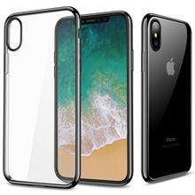 For IPhone X 8 7 6 6s Plus Case IPhone 10 Transparent Clear Thin Protective Cover Plating Premium Flexible Soft TPU Bumper Case(China)