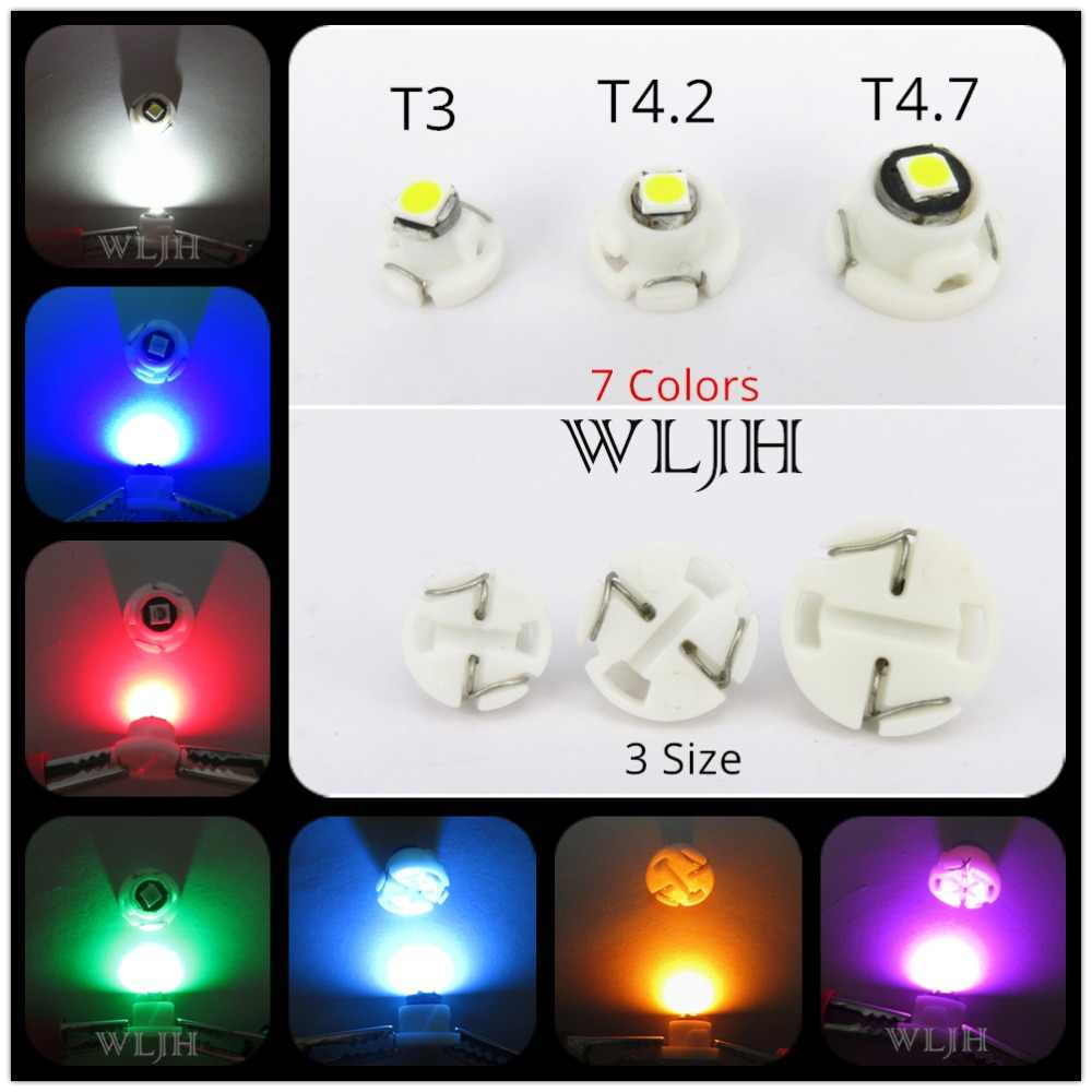 WLJH 10x Neo Wedge T3 T4.2 T4.7 Led 3030 SMD Car Climate Control AC Bulb Switch Radio Gauge Instrument Dashboard Indicator Light