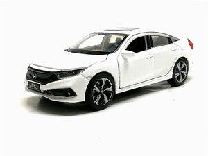 Image 5 - Новинка 1/32 масштаб HONDA 2019 CIVIC симулятор игрушечный автомобиль Металл литье под давлением модель с выдвижной спинкой звуковой светильник детские игрушки подарок на день рождения