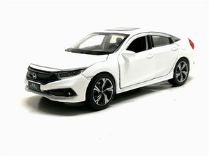 Image 5 - New 1/32 Scale HONDA 2019 CIVIC Simulation Toy Car Metal Diecast Model With Pull Back Sound Light Childrens Toys Birthday Gift