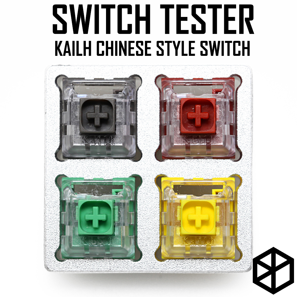 Aluminum Or Acrylic Switch Tester 2X2 Kailh Box Switches Chinese Style Red Green Grey Yellow RGB SMD For Mechanical Keyboard