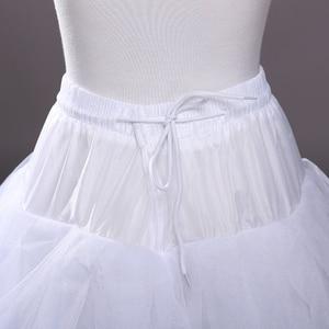 Image 5 - 4 schichten von Fest Tüll Petticoat Unterrock Schlupf Hochzeit Zubehör Chemise Ohne Hoop Für Hochzeit Kleid Krinoline Jupe Slip