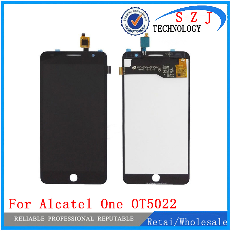 New Touch Panel For Alcatel One Pop Star 3G OT5022 OT 5022 OT-5022 5022X 5022D LCD Display Digitizer Screen Complete Assembly black lcd display screen for alcatel one touch ot8050 lcd with touch digitizer assembly free shipping