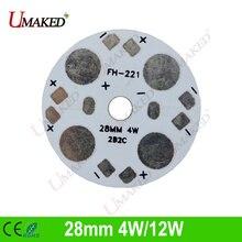 28mm 4W/12W led aluminum plate base board, LED PCB board for downlight, bulb light. heat sink board Free shipping